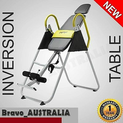 Gravity Inversion Table Padded Folding Upside Down Back Pain Exercise Home