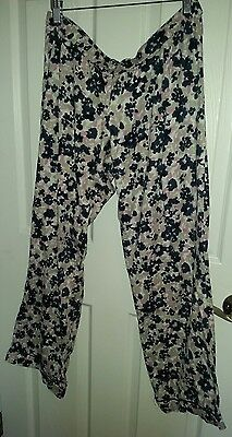 Pea in the pod maternity floral pajama pants sz Large GUC