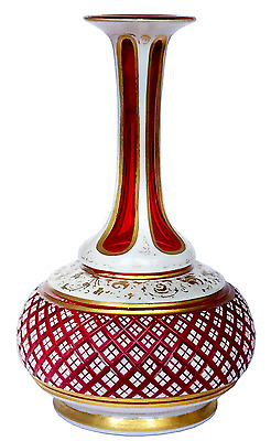 """Bohemian Ruby Glass Scent Bottle C.1880 Height: 5"""""""