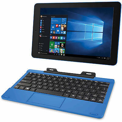 "PC Laptop Tablet Cambio 10.1"" 2-in-1 32GB Intel Quad Core Webcam Windows 10 New!"
