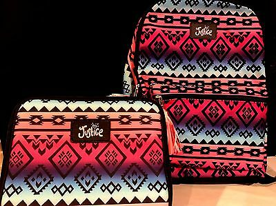 """Justice for Girls """"Multi Tribal"""" ~Backpack & Lunch Box~ NWT!"""