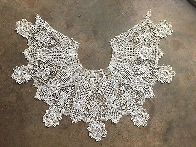 Antique Victorian Beautiful Lace Collar Estate Large intricate