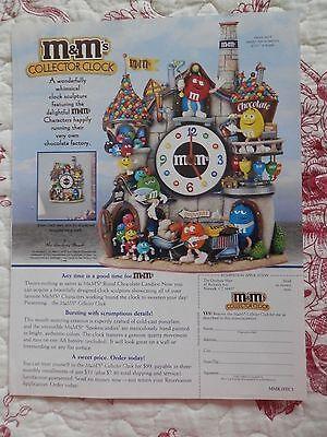 Vintage Print Ad, M&M's Collector Clock