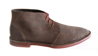 COLE HAAN Men's size 10 Boots $198 Chukka Lace-Up Shoe Brown Leather Paul