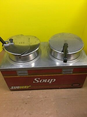 Nemco counter top Subway two well soup warmer
