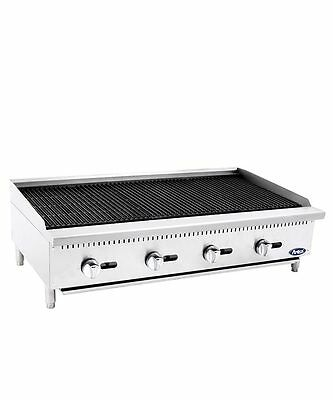 """New 48"""" Radiant Char Broiler Commercial Restaurant Duty Natural Or Lp Gas"""