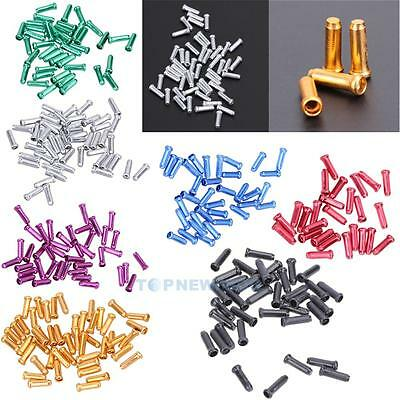 Bicycle Ends Caps Crimps Ferrules Bike Shifter Brake Gear Inner Cable Tips 50X