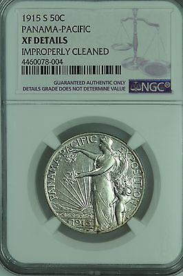 1915 S Panama Pacific Half Dollar! Ngc Xf Details! 50C! Us Coin Lot #3201