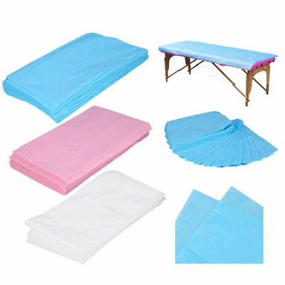 10PCS Waterproof Disposable Nonwoven Bed Sheet Massage Table Cover 175*75cm AF