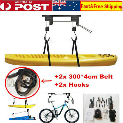 Kayak Hoist Bike Lift Pulley System Garage Ceiling Storage Rack Bicycle Lifting