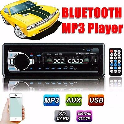 Car 1 DIN Bluetooth Stereo Headunit Radio Audio CD Player MP3 USB SD AUX FM