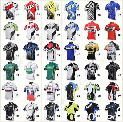 36 style Bicycle Team Road Bike Clothing Jerseys Short Sleeve Tops Riding Shirt