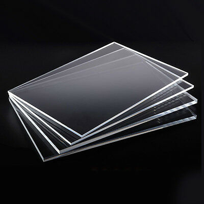 1-4mm Clear High Transparency Perspex Acrylic Plexiglass Cut A4 Sheet Size