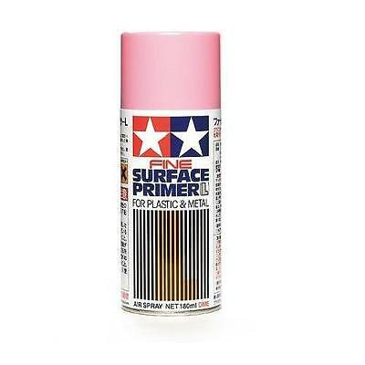 Tamiya 87146 Surface Primer L spray Tamiya 180ml Pink fondo metal-plastic rosa