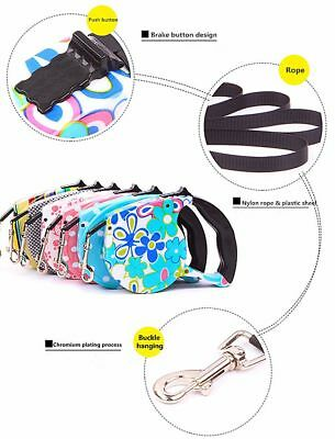 5M Dog Leash Retractable Extending Pet Leashes Dog Collars Walking Dog Leads TP