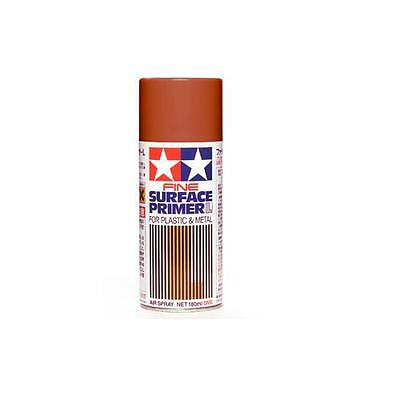 Tamiya 87160 Surface Primer L spray 180ml Oxide Red fondo metal-plastic ruggine