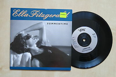 """ELLA FITZGERALD Summertime / Ev'ry Time We Say Goodbye UK 7"""" in picture sleeve"""