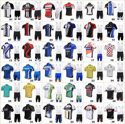 36 style Bicycle Team Road Bike Clothing Short Sleeve Jersey&Bib Pant Sport Sets