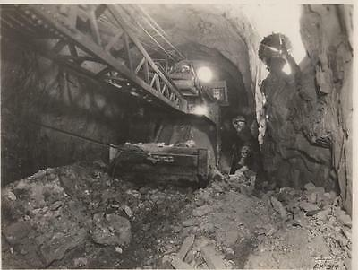 Antique Original Photo Of A Working Coal Mine & 4 Miners
