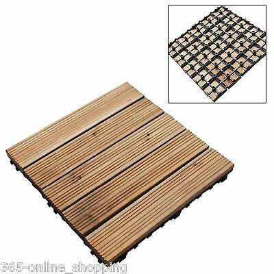 Anti-Slip Decking Tiles Square Patio Interlocking Connecting Decking Flooring