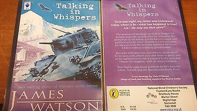 Talking In Whispers: James Watson EXTRA LARGE PRINT (Paperback)