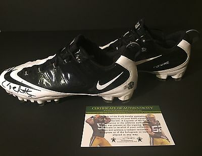 Clay Matthews Game Practice Used Worn Signed Packers Football Cleats SB XLV COA