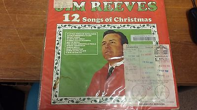 "Jim Reeves: 12 Songs Of Christmas: 12"" LP Record"