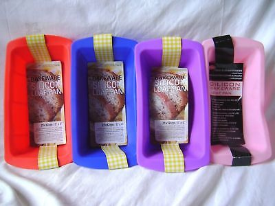 New Silicone Loaf Cake Baking Tin Mould Non Stick Blue Red Pink Or Purple
