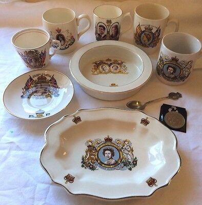 Joblot Vintage Commemorative Ware 1937 / 86 Coronation Royal Wedding Jubilee