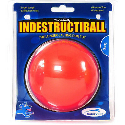 Happy Indestructible Nearly Unbreakable Tough Heavy Duty Dog Toy - 2 Sizes