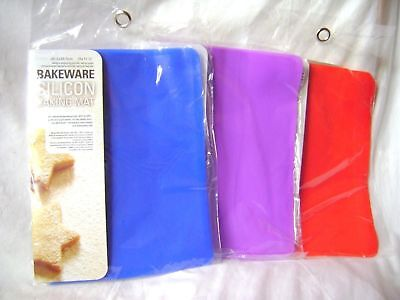 New Silicone Baking Sheet Mat Non Stick Easy Wash Purple Red Or Blue Ubl