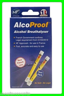 * 3 Boxes * Breathalyzer Twin Pack Kit [ALCNFTWIN] EU Breathalyser Tester
