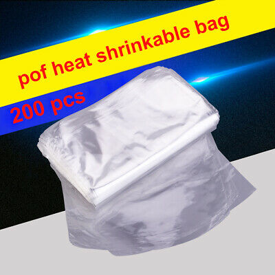 200*Heat Shrink Wrap Bags Safety For Soap, Bath Bomb Package Handmade DIY Crafts