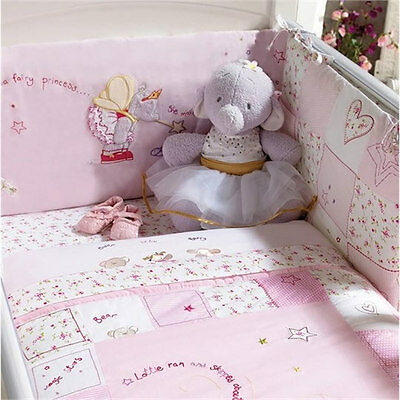 Brand new in bag Izziwotnot lottie fairy princess pink cot & cot bed bumper only