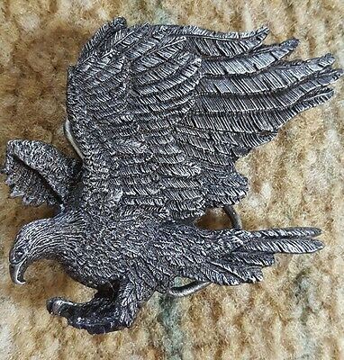 American Bald Eagle Brass Bergamot Vintage 1980 Belt Buckle