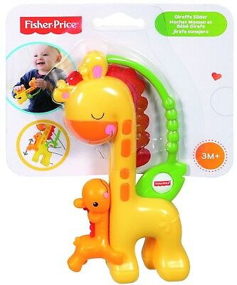 Fisher-Price CGR92 Giraffe Slider Baby Rattle Toy