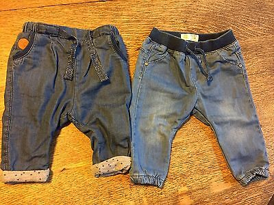 Zara Baby Girl Chambray Lot Pants/Joggers/Trousers 3-6 Months