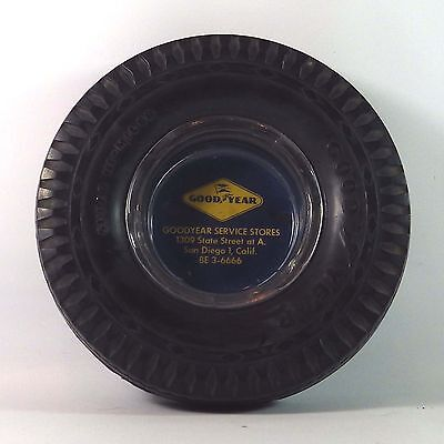 Vintage 1950's Goodyear Tire Service Store Advertising Real Tire Ashtray