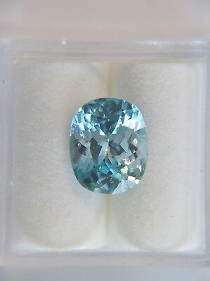 5.68ct Natural BLUE ZIRCON Oval - Great Color