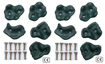 Heavy Duty Plastic Green Climbing Stones Handgrips Climbing Wall Footholds Grips