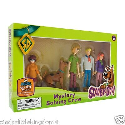 Scooby Doo Mystery Solving Crew 5 articulated poseable figures set