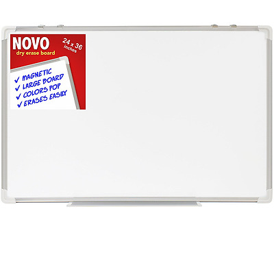 Dry Erase Board 24x36 | LARGE Magnetic Whiteboard with Aluminum Frame | Dryerase
