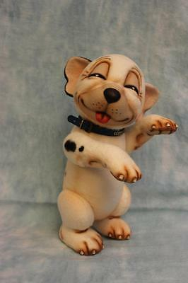 "11"" R. John Wright dog Bonzo the Pup Brand New Felt Dog LTD Edition 250 Jointed"