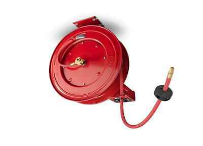 "Air Compressor Accessories Hose Reel 50 Ft Retractable Tekton 3/8"" Hose Brass"