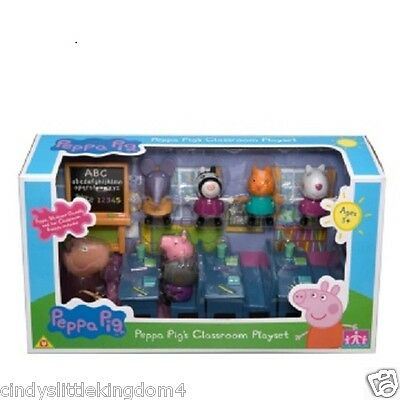 Peppa Pig classroom school with 7 figures playset toy with Madame Gazelle