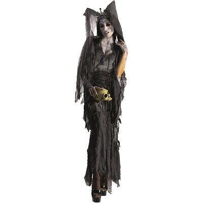 Lady Gruesome Vampire Costume Adult Scary Ghost Halloween Fancy Dress