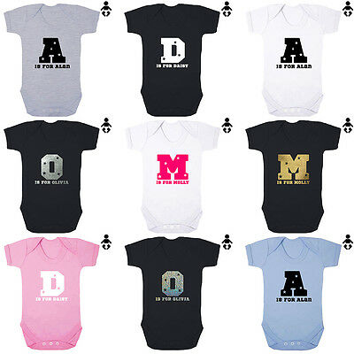 PERSONALISED BABY NAME, LETTER, Baby name announcement, BABY VEST / Bodysuit