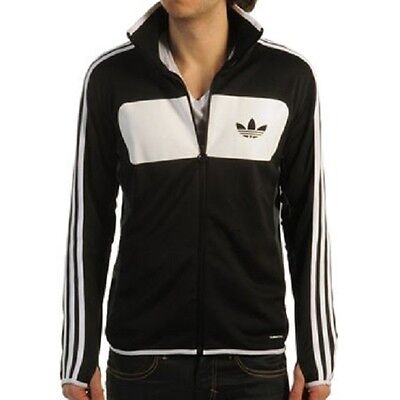 Mens Size Medium Adidas Street Diver Tracksuit Top Jacket Black/white Free Post!