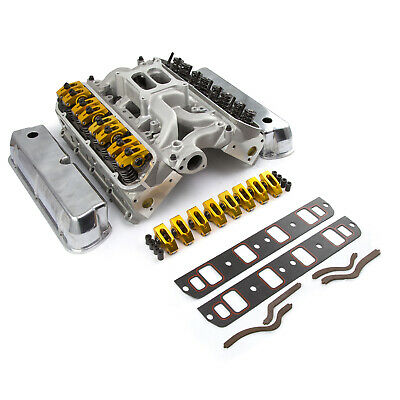 Ford Small Block 289 302 Solid Flat Tappet Top End Heads Engine Kit