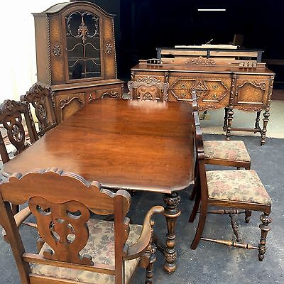 Superior Rare Antique Mahogany Dining Room Suit HIGH END